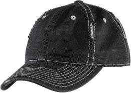 HRD - District Black Rip & Distressed Hat with Logo Choice