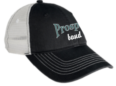 Prosper Band Trucker Hat with Shimmer Embroidery Logo and Bling