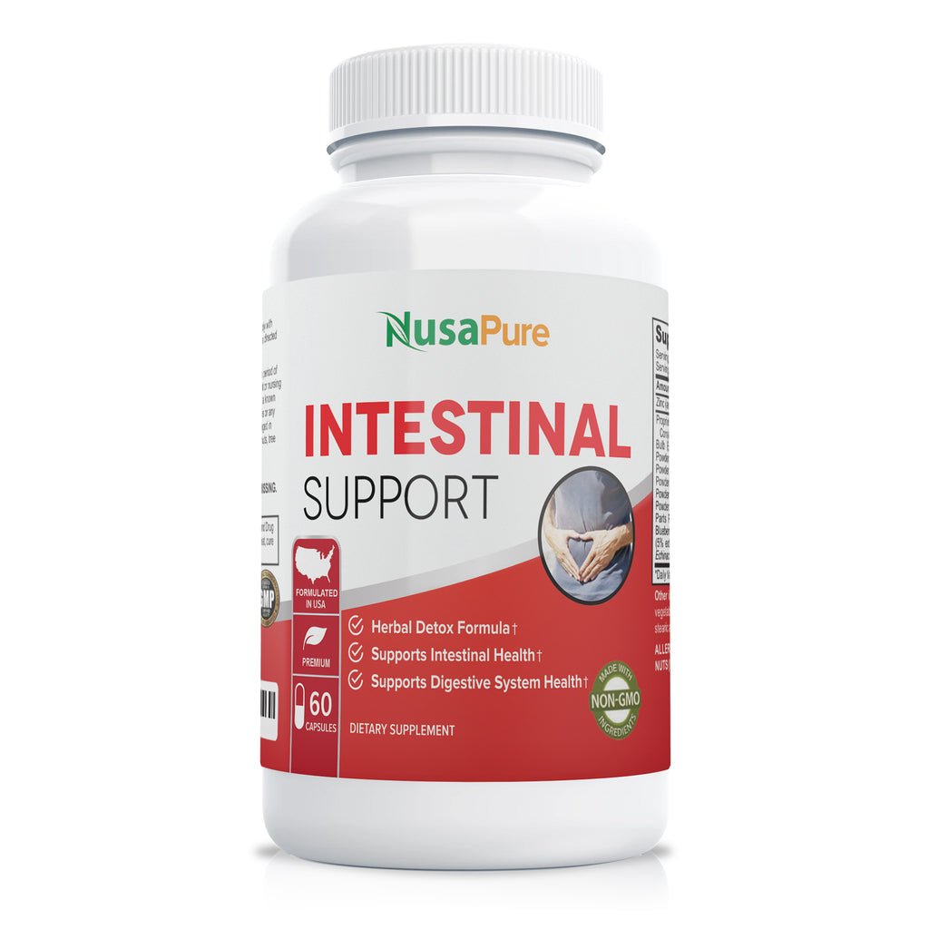 Intestinal Support 1475 mg + Zinc - 60 Caps (Non-GMO)