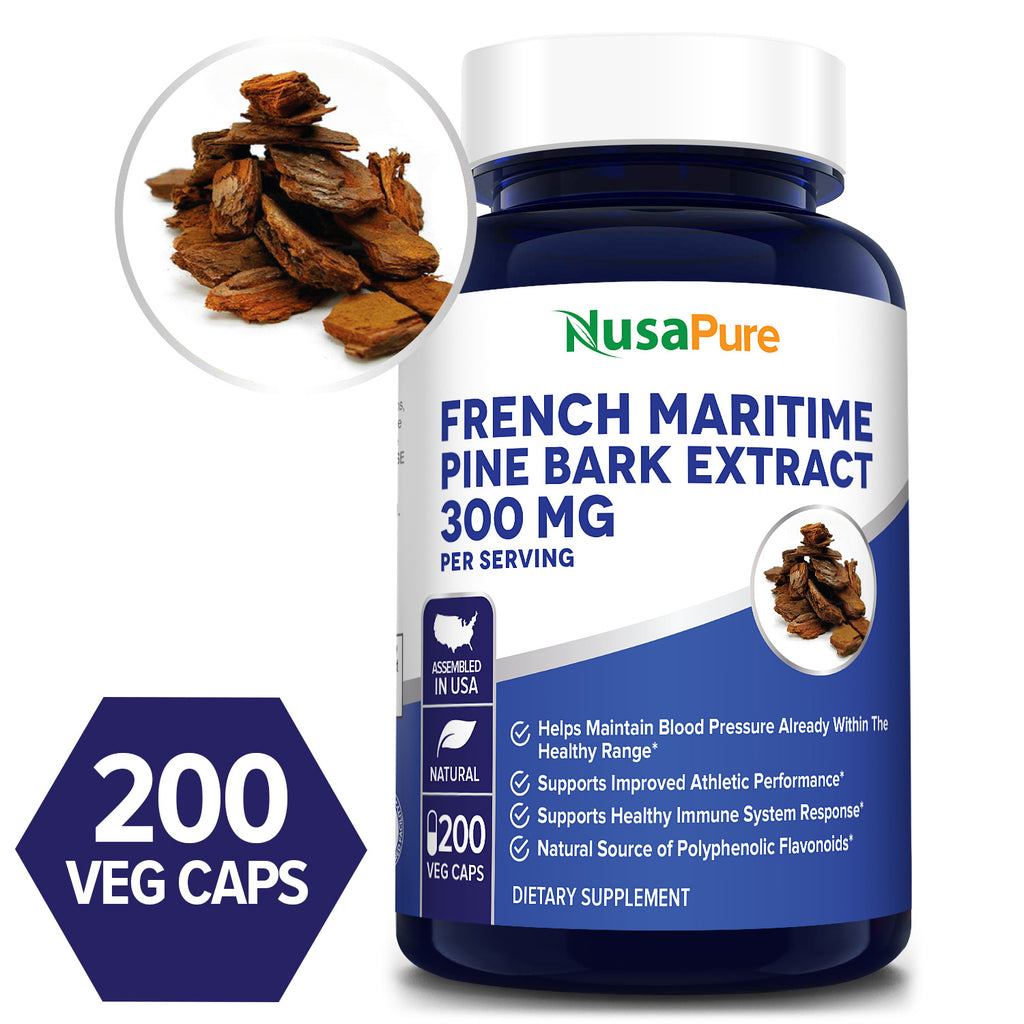 French Maritime Pine Bark-300mg/Serv-100DaySupply-(100%Vegetarian,Non-GMO&Gluten Free)Helps Maintain Blood Pressure* Supports Improved Athletic Performance* Supports Healthy Immune System Response* Natural Source of Polyphenolic Flavonoids*