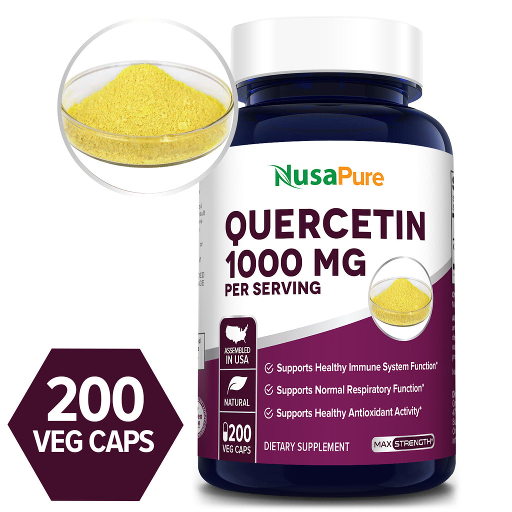 Quercetin -1000mg/Serv -100 Day Supply (100% Vegetarian, Non-GMO & Gluten Free) Supports Healthy Immune System Function* Supports Normal Respiratory Function* Supports Healthy Antioxidant Activity*