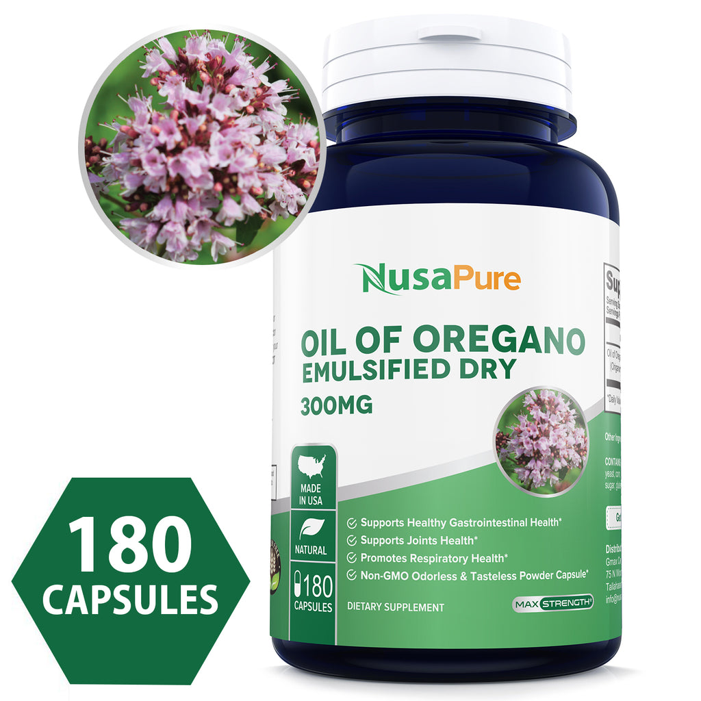 Oil of Oregano Extract 300mg Powder Caps (Non-GMO & Gluten Free) with Antioxidant Phytochemicals - Immune and Intestinal Support for Healthy Digestive - Made in USA - 100% Money Back Guarantee!