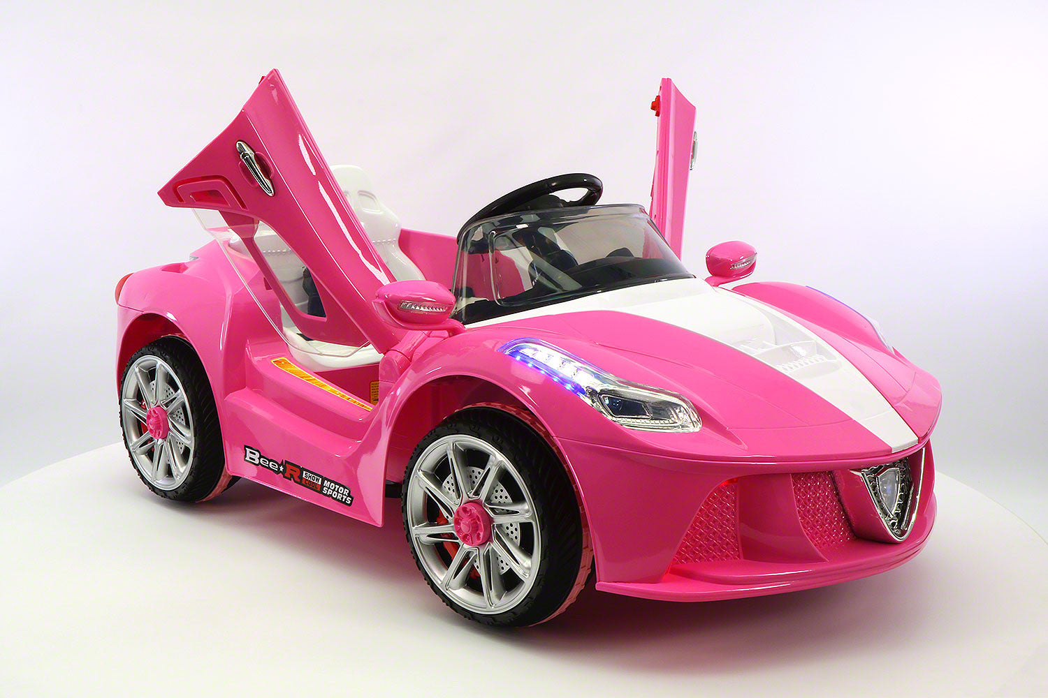 2017 12v ferrari style kids battery powered wheels ride on car with mp3 and parental remote control in pink