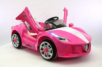 2018 12V Ferrari Style Kids Battery Powered Wheels Ride-On Car With MP3 and Parental Remote Control in Pink