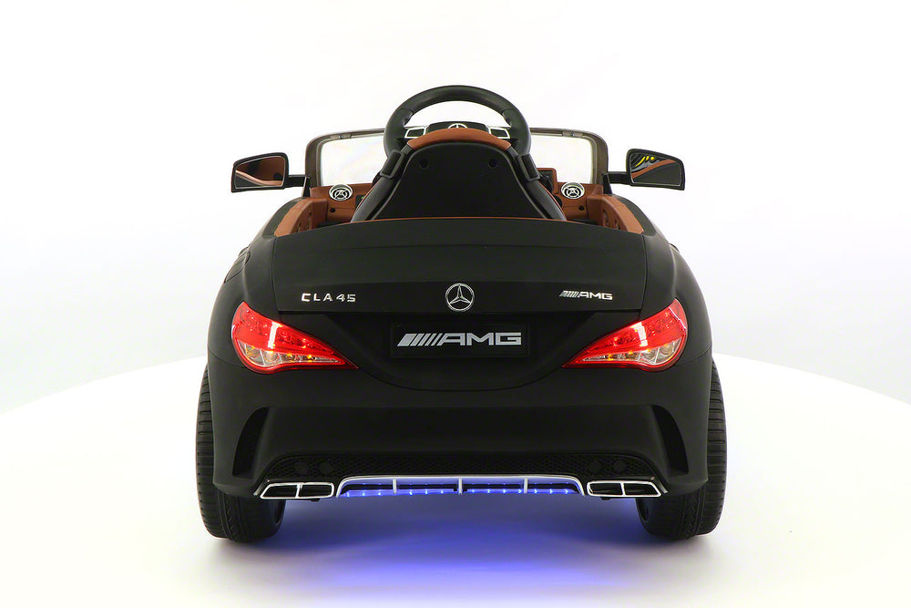 2018 12volt Mercedes CLA45 AMG Ride-On Car with USB MP3 Player and Parental Remote Control Matt Black
