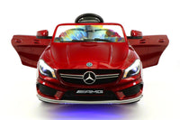 2018 12volt Mercedes CLA45 AMG Ride-On Car with USB MP3 Player and Parental Remote Control in CHERRY RED