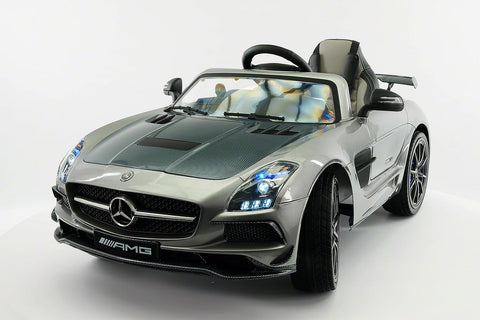 2017 12V Battery Power R/C Mercedes SLS AMG LED LCD Screen  Wheels MP4 Ride On Car