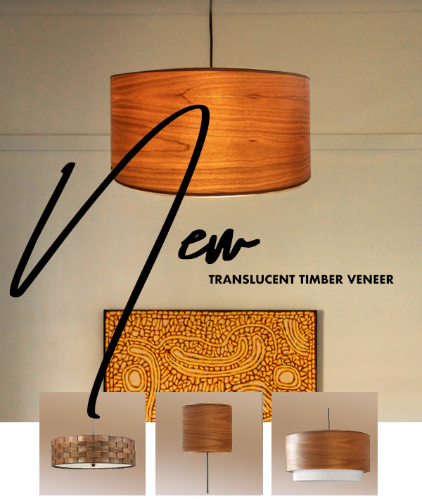 Translucent Timber Veneer for Pendant Lights