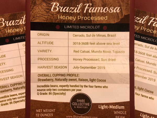 Brazil Famosa Honey Processed