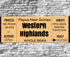 Papua New Guinea Western Highlands -Light Roast