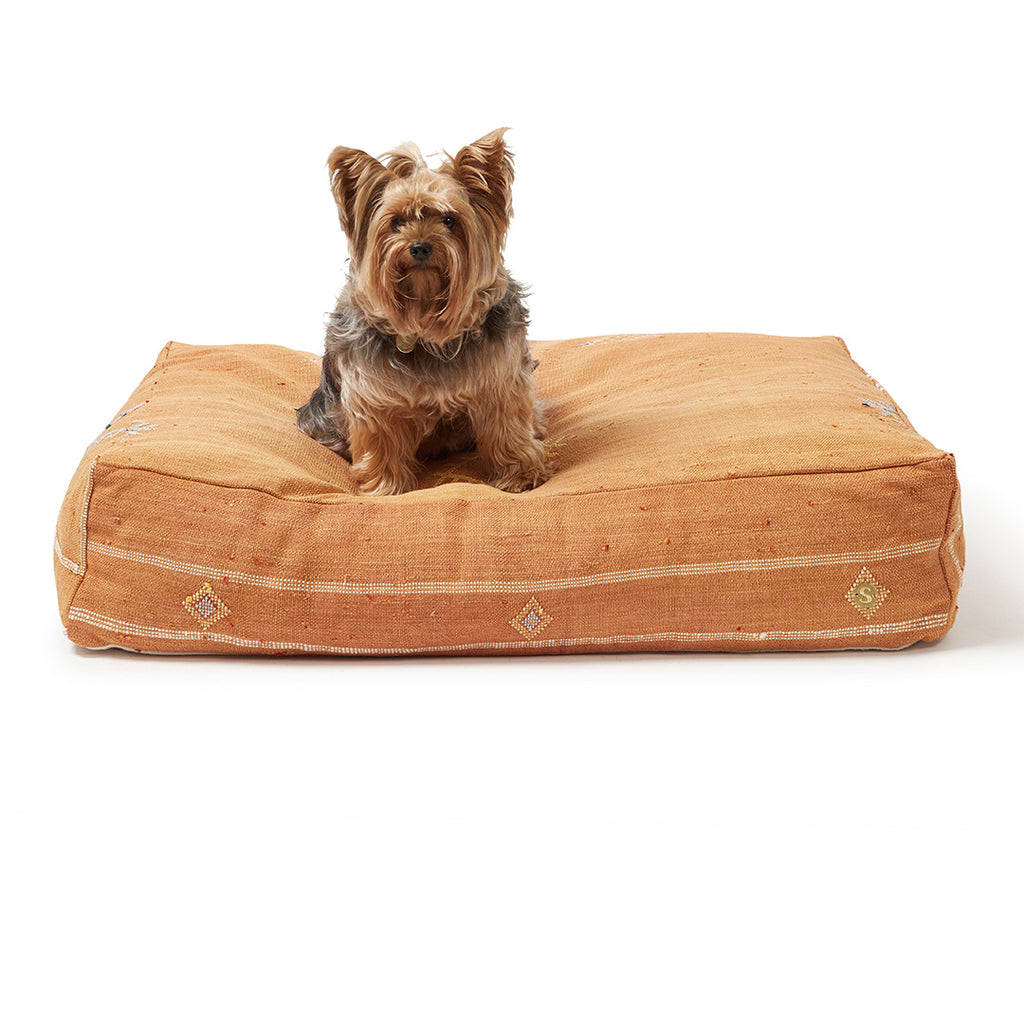 Cactus Silk Dog Bed, Rust Medium