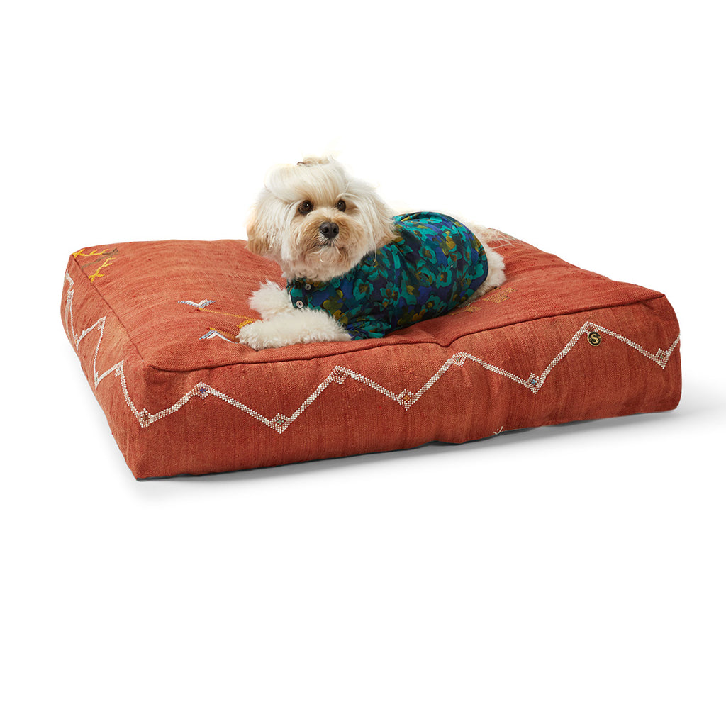 Cactus Silk Dog Bed, Tangerine Medium