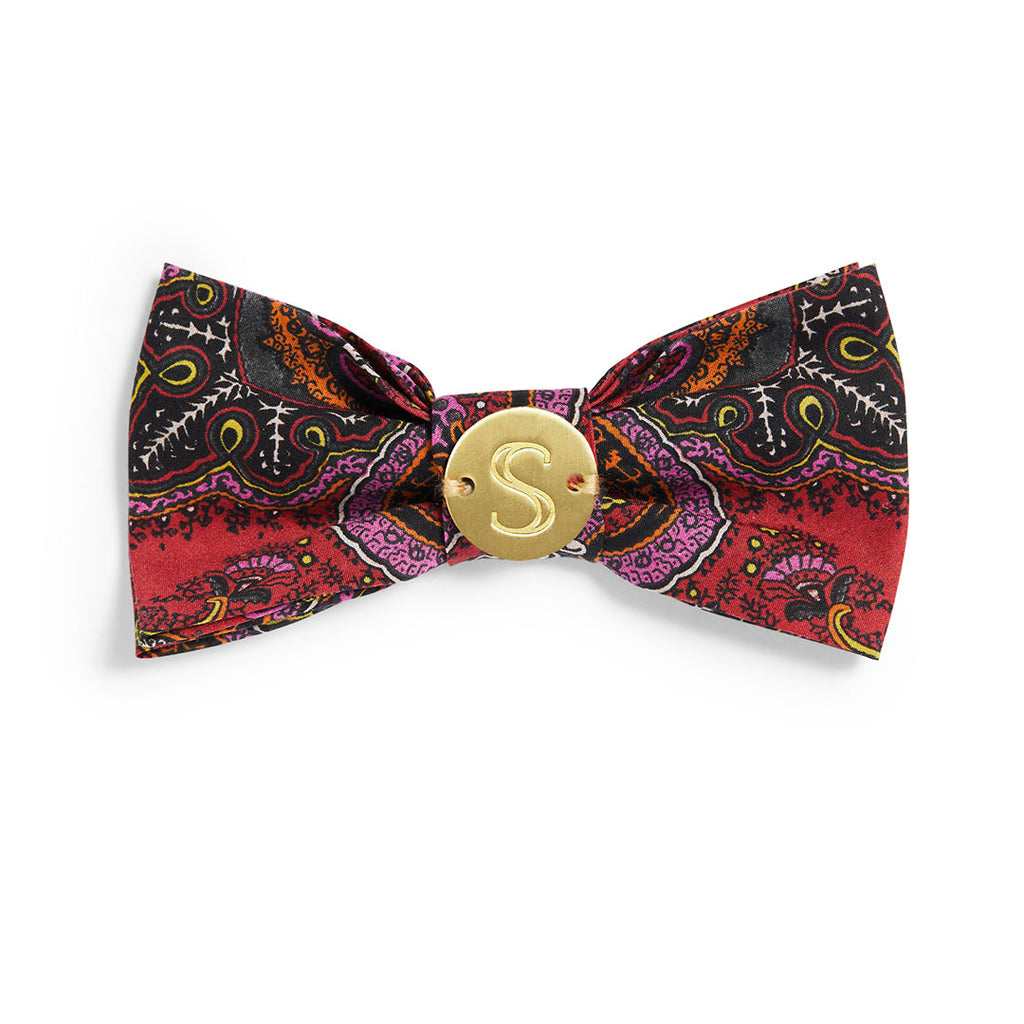 Liberty Bow Tie - Paisley Coral