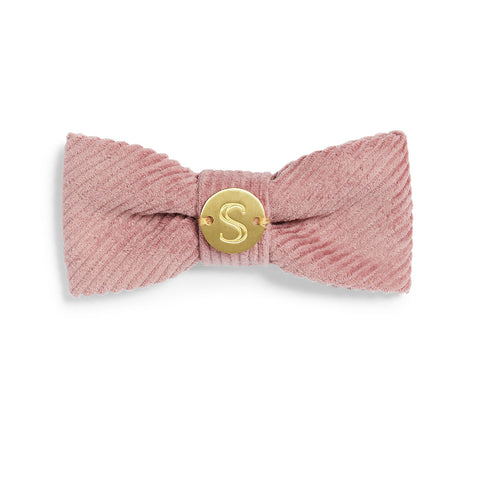 Corduroy Bow Tie - Dusty Pink