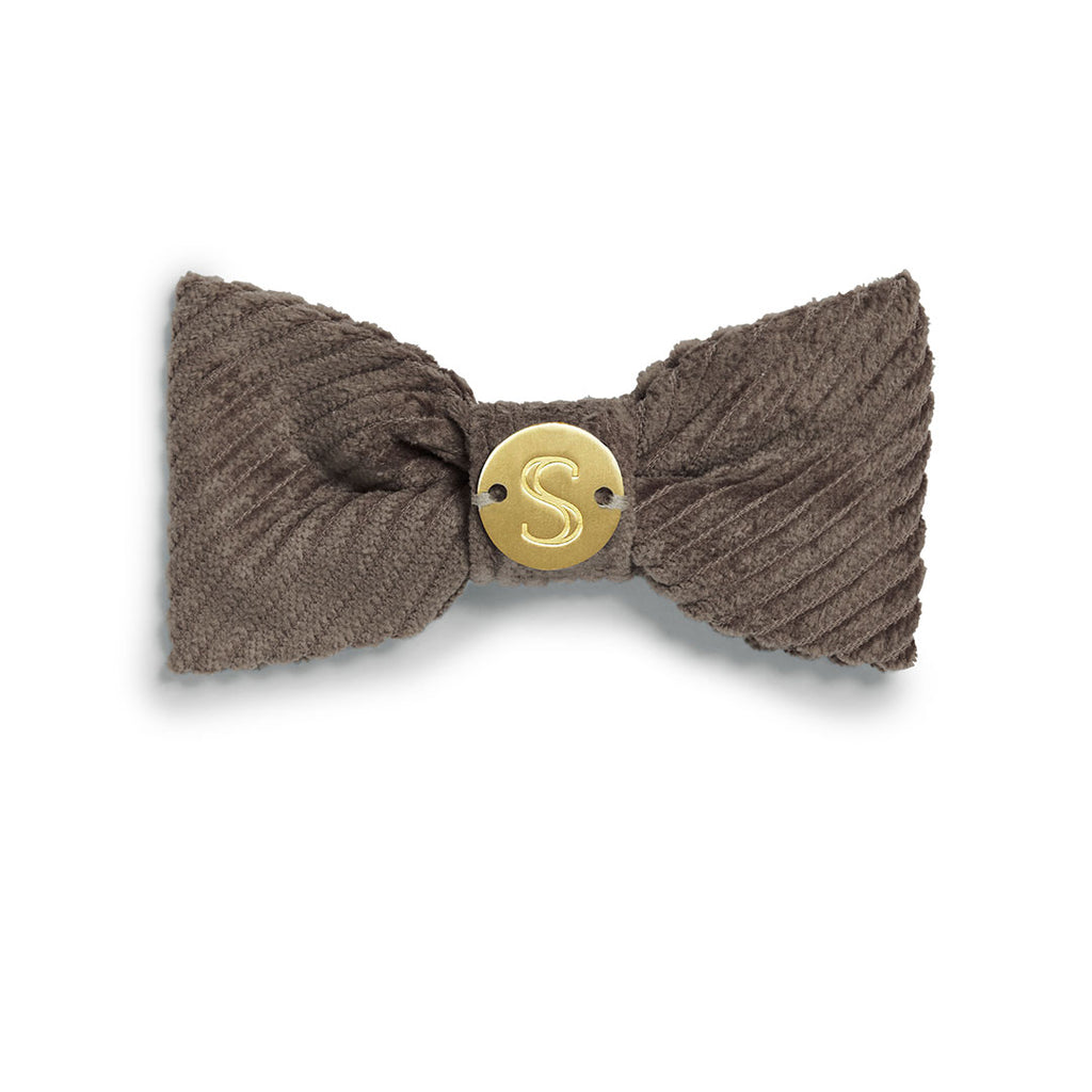 Corduroy Bow Tie - Taupe