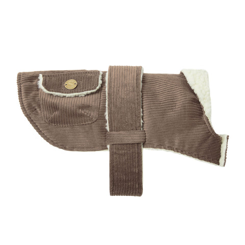 Corduroy Dog Coat - Taupe