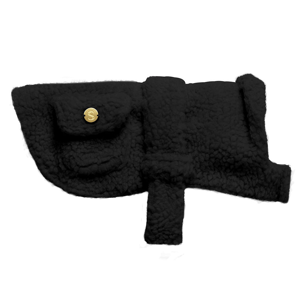 Teddy Dog Coat - Black