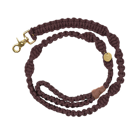 Macramé Originals Dog Lead - Brown