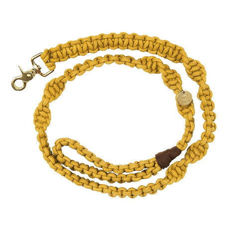 Macramé Originals Dog Lead - Mustard