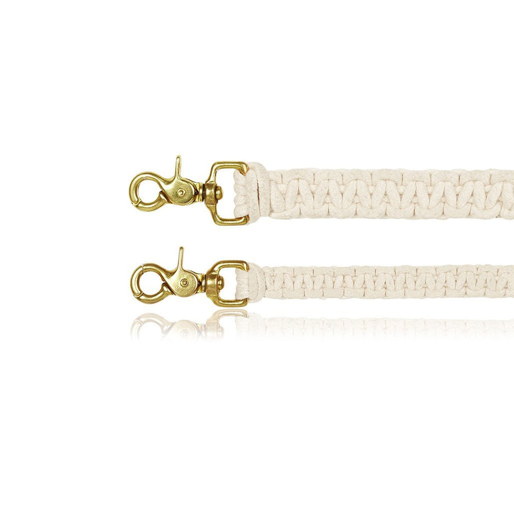 sebastian says dog lead leash macrame natural gold