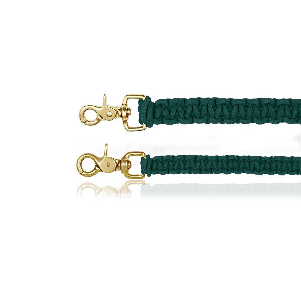 sebastian says dog lead leash macrame teal gold