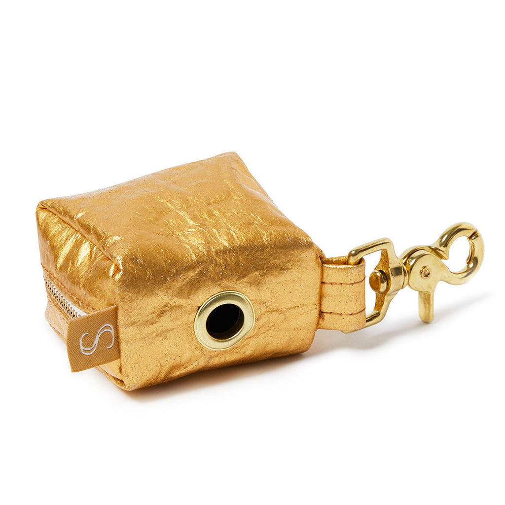 Piñatex Dog Poop Holder - Gold