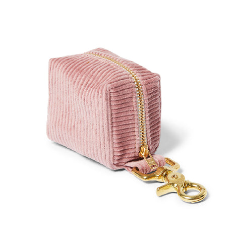 Corduroy Poop Bag Holder - Dusty Pink