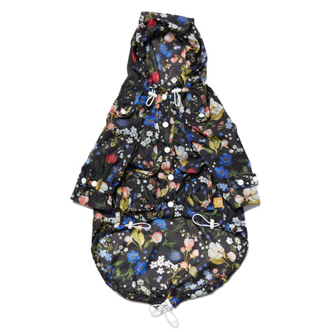 Liberty Raincoat - Floral Black