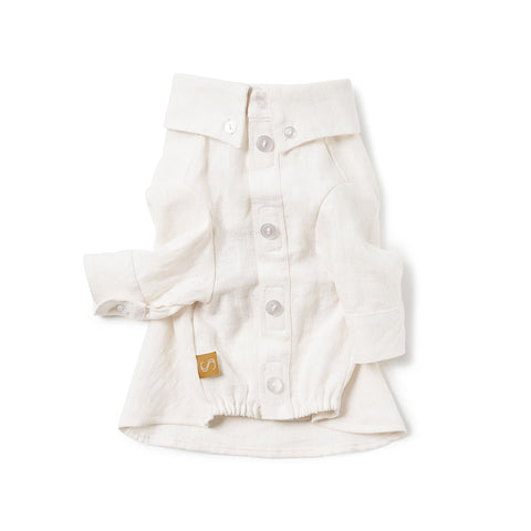French Linen Shirt - Ivory
