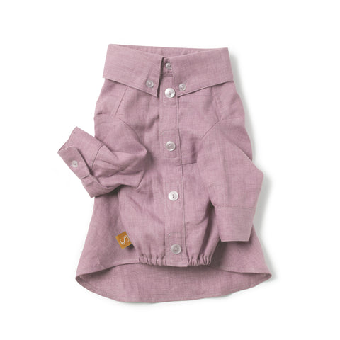 French Linen Shirt - Dusty Mauve