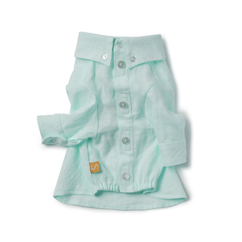 French Linen Shirt - Mint
