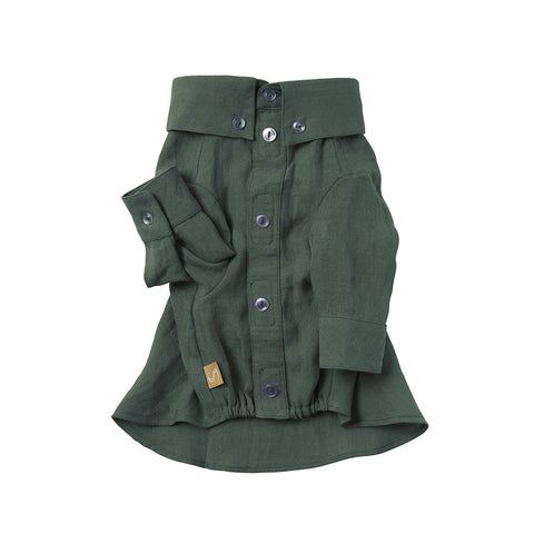 French Linen Shirt - Myrtle Green