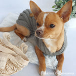 Merino Wool Weave Knit Dog Sweater - Charcoal