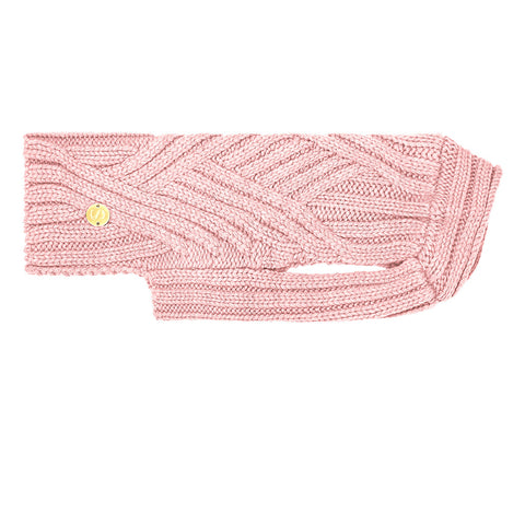 Merino Wool Weave Knit Dog Sweater - Soft Pink