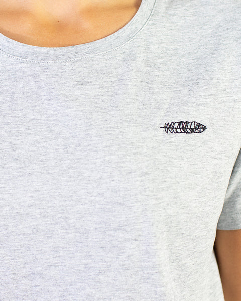 Embroidered Logo Tee Grey Marle