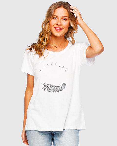 Folksong Tee White