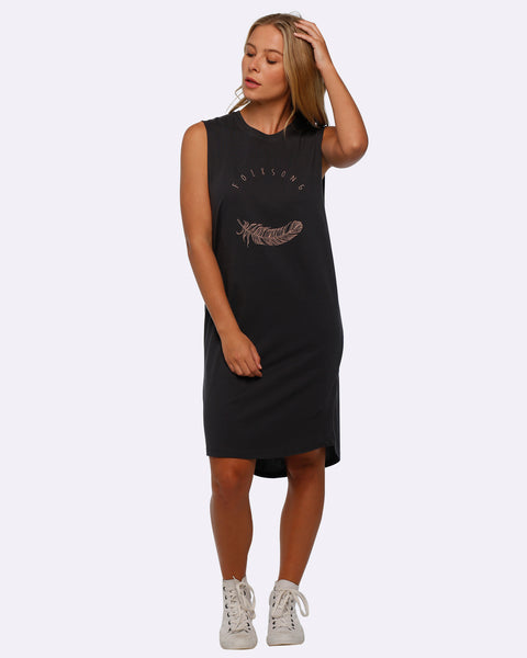 Tank Dress - Folksong - Vintage Black