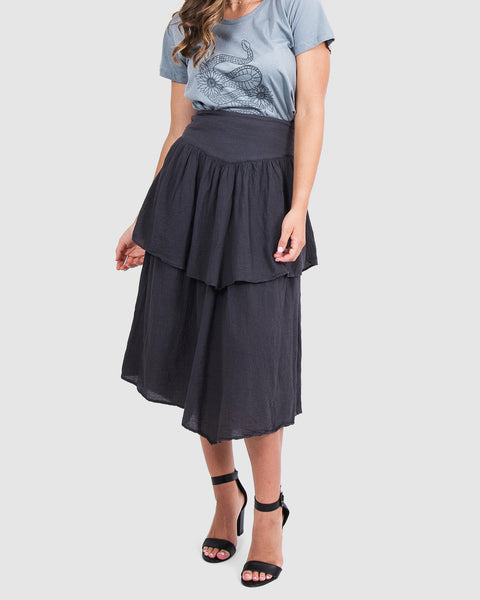Angie Skirt in Charcoal