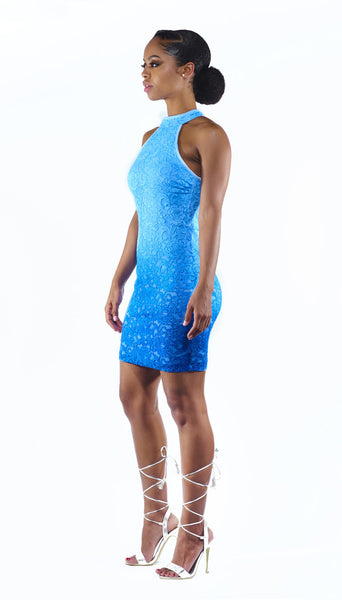 Classified- Blue Lace Dress