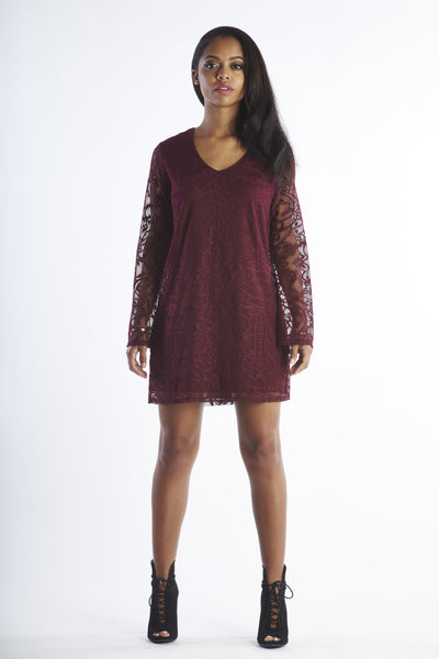 Dirty Dancing - Maroon Lace Dress