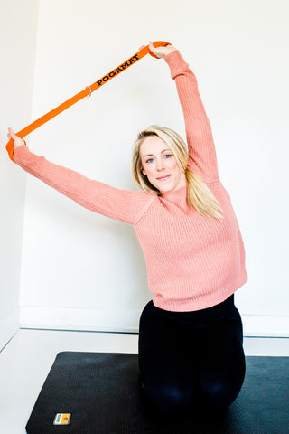 Side Stretch Yoga with a strap