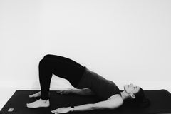 Work- Pogamat Blog- Yoga for Back Pain-supported bridge pose