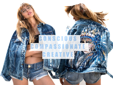 Ana Kuni Art on Denim jacket