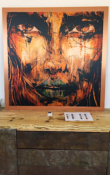 Ana Kuni art on copper metal in limited edition of 7