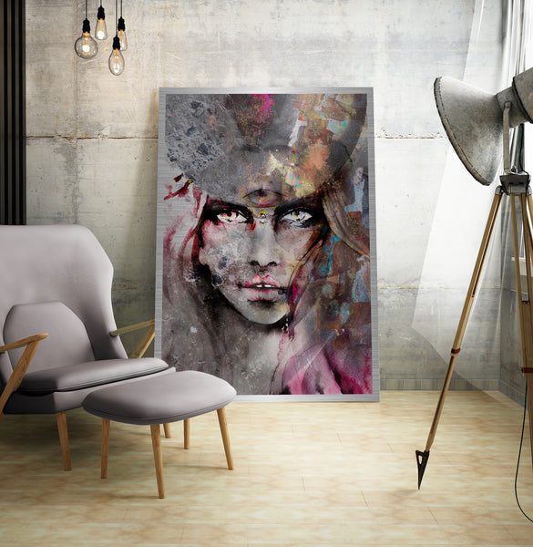 Limited edition art by Ana Kuni in interior