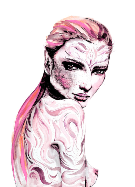 fashion illustration by ukrainian artist Ana Kuni