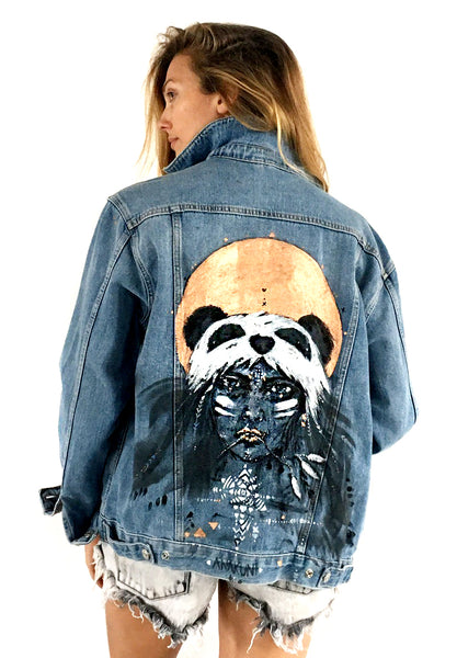 TOPSHOP denim jacket hand painted by Ana Kuni