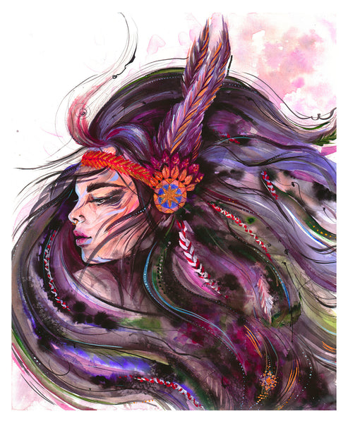 Ana Kuni art, Warrior Woman