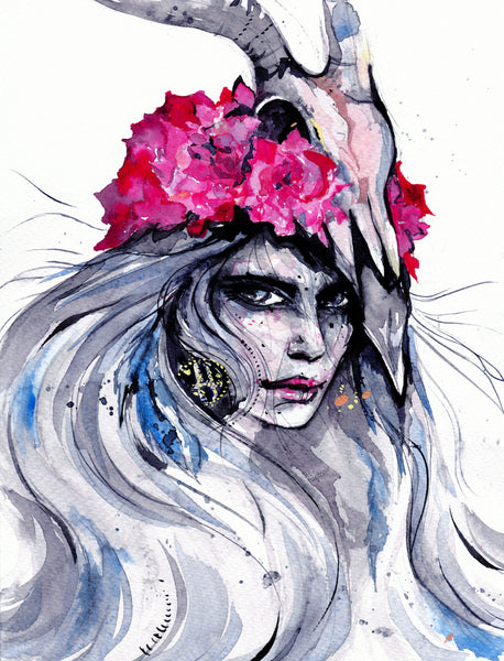Limited edition art print by Ana Kuni. Warrior  Girl