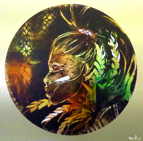 Limited edition print on brass by Ana Kuni
